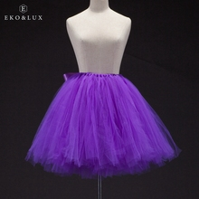 EKO&LUX Best Selling Sexy Adult Tutu Skirts Super Puffy Fashion Mini Tulle Skirts with Bow Women's Ball Gowns Short Skirts