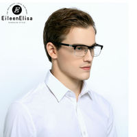 Erkekler için Yarım Çerçeve gözlük Çerçeveleri EE Okuma Gözlükleri Erkekler Yarım Çerçeve mix 925 Saf Gümüş Marka Gözlük Çerçeve Erkekler
