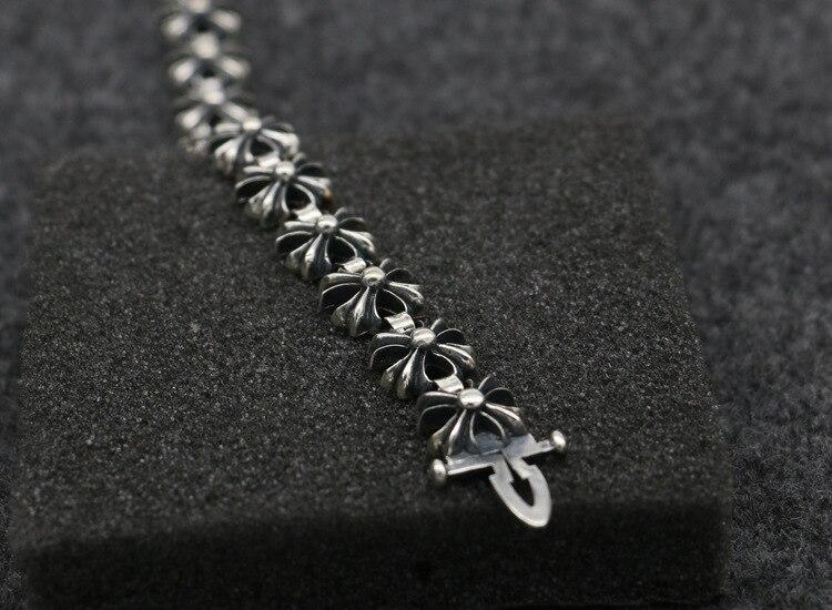 S925 браслет из стерлингового серебра модные популярные аксессуары новый крест вокруг панк стиль 2019 горячая распродажа - 3