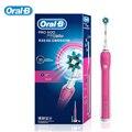D16523 Oral B cepillo de Dientes Eléctrico Higiene Oral Dental Care Eléctrico Recargable Cepillo de Dientes Blanqueamiento de Dientes para Adultos Pink & Blue