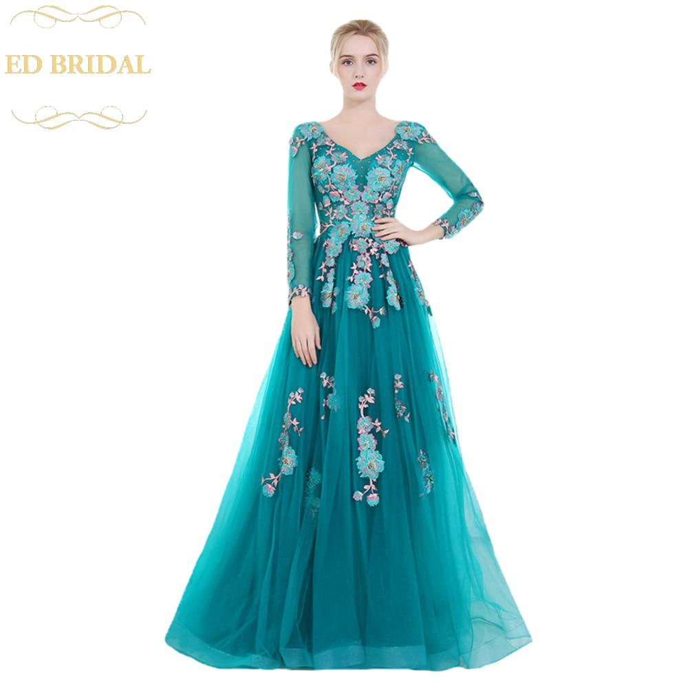 Peacock Blue Long Dresses