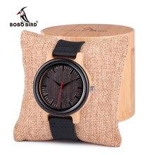 Bobo птица высокого Количество мужские деревянный кварцевые часы с кожаным ремешком как подарок индивидуальный логотип Relojes HOMBRE