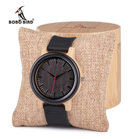 BOBO BIRD M13M14 High Quantity Mens Wooden Quartz Watch With Real Leather Strap As Gift Can