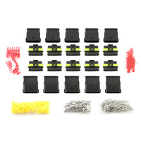 2017 Hot Sale 10 Kits 6 Pin Way Car Motorcycle Truck Sealed Waterproof Electrical Wire Auto