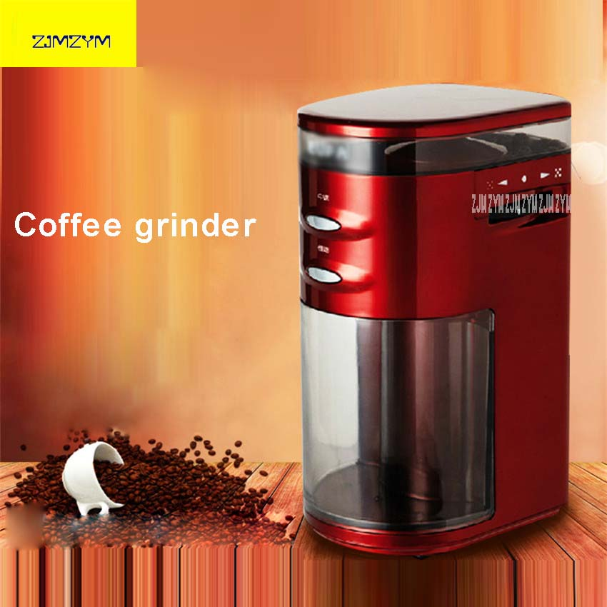 220V Electric Coffee Grinder High Quality Coffee Stainless Steel Blade Storage Box Coffee Beans Mill With 100g Capacity TSK-9272 high quality electric coffee grinder 9 level adjustable coffee beans grinding machine coffee grinder makers 75w 100g