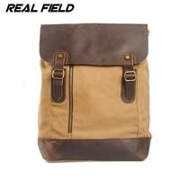 Real Field Retra Canvas Backpack Men Military Backpack Vintage Women School Backpack Large Capacity Shoulder Bag