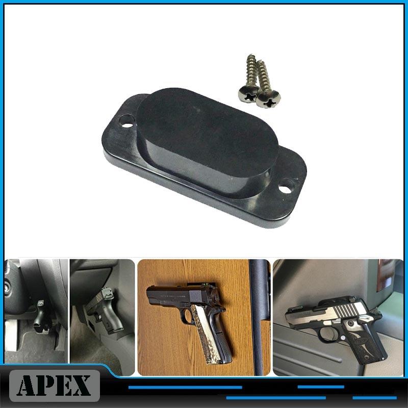 Gun Magnet Holster Magnetic gun Holder safe Organizer Pistol Vehicle Mount Car Bedside Under ...