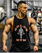 New Gold Vest Men Sleeveless Top Bodybuilding Necktie Fitness Men's Clothing Cotton Special Muscle Clothes Workout Vest