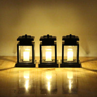 Household solar candle lamp simulation, European led wall lamp, solar garden street lamp