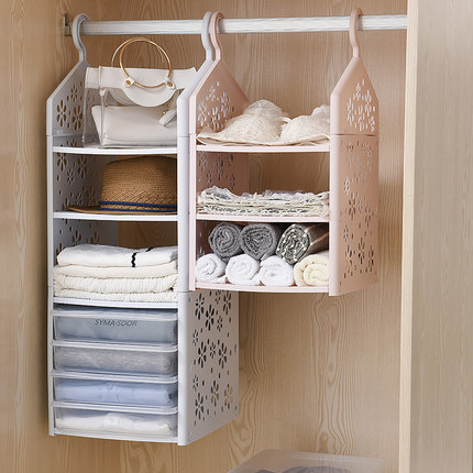 Fashion Closet Shelf Organizer Wardrobe Hanging Storage Foldable Multi Layer