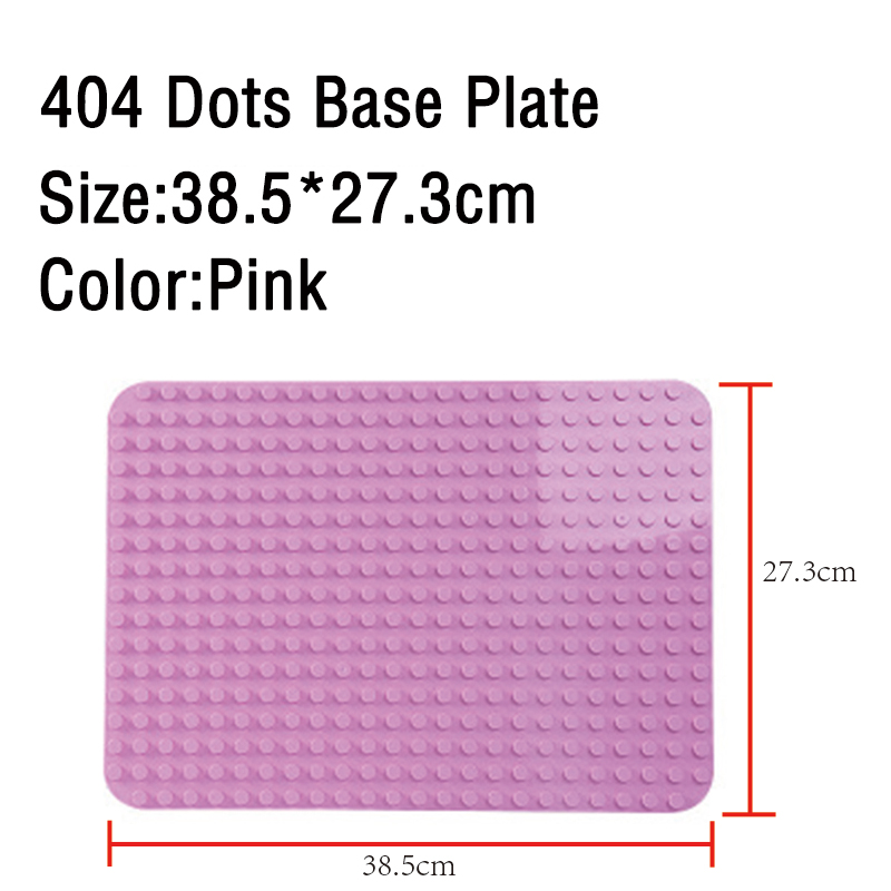 GOROCK Large Size Baseplate Big Base Plate 404 Dots Exlarge Brick Solid Plate Toys Compatible Legos Duploe Toys For Child Kid 3
