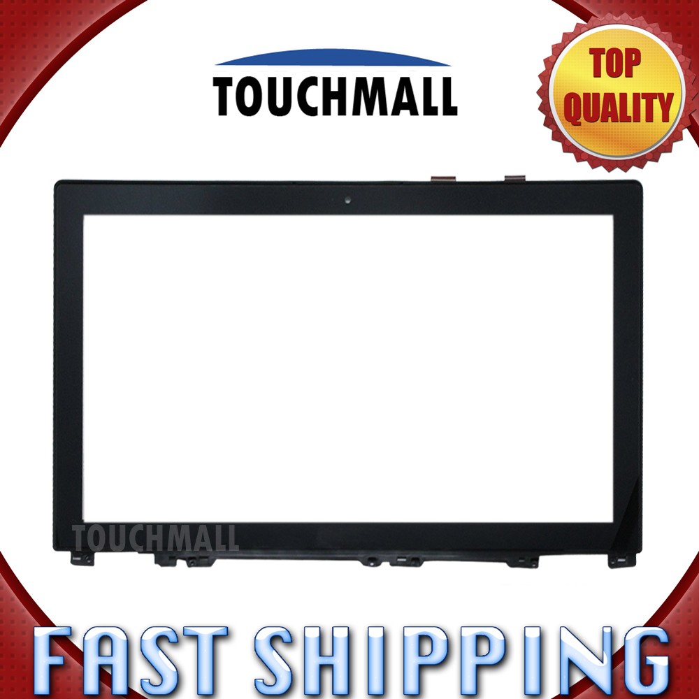 For New Front Touch Screen Digitizer Glass with Frame Replacement Lenovo IdeaPad U530 15.6-inch Black Free Shipping smart home us black 1 gang touch switch screen wireless remote control wall light touch switch control with crystal glass panel