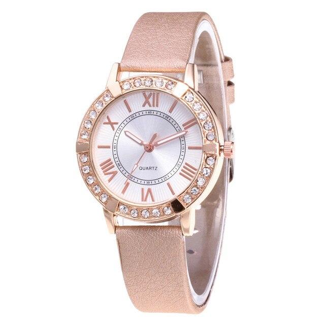 Ladies Watch Bracelets PU Leather Band Analog Quartz Women Watches High Quality Montre Femme reloj hombre dameshorloges  4KK