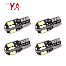 Wholesale NEW 4pcs/Lot Canbus T10 8smd 5630 5730 LED car Light Canbus NO OBC ERROR T10 W5W 194 SMD Led Bulb Car-styling