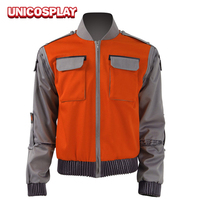 Man Jacket Back To Future Marty Mcfly Coat Cosplay Costume 2016 New Outwear Halloween Suit Pocket