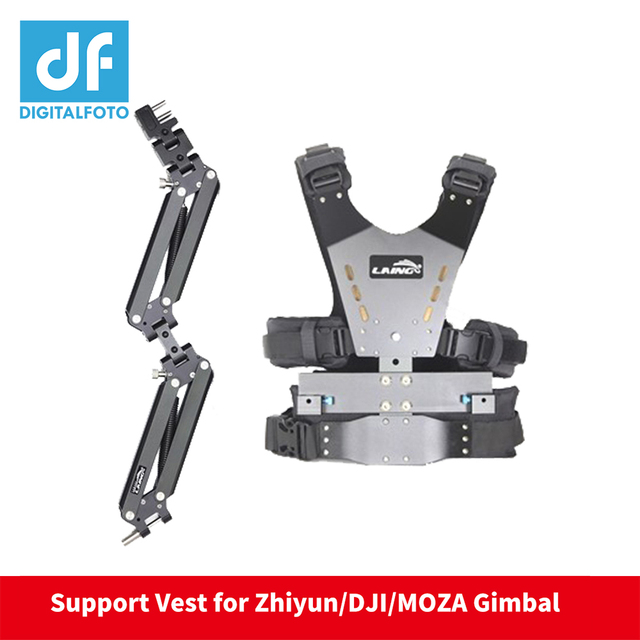 DF DIGITALFOTO LAING 5kg ayı Video kamera Steadicam sabitleyici ZHIYUN vinç 2 3 axis Gimba çift destek kolu ve yelek