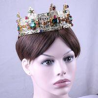TANGTANG Baroque Crown Diadem Hair Hoop Palace Walking Show Luxury Bride Wedding Headwear Accessories Head Jewelry Garland Tiara
