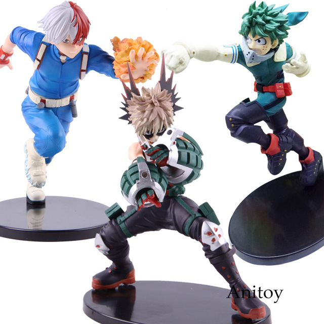 Anime Boku no Hero Academia My Hero Academia Katsuki Bakugo Izuku Middria Shoto Todorki Action Figure Collectibe Model Toy