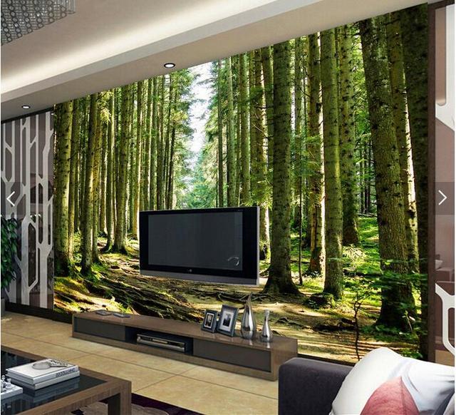 Nackt auge 3D bäume große wandbilder 3D tapete wohnzimmer ...