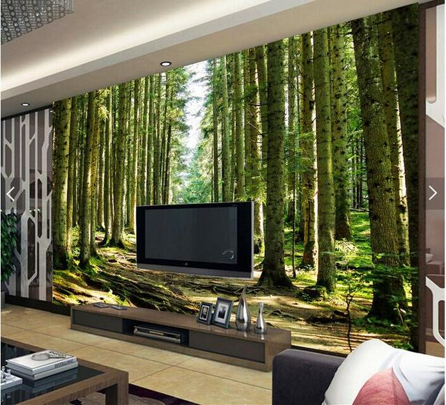Naked eye 3D bomen grote muurschilderingen 3D behang woonkamer ...