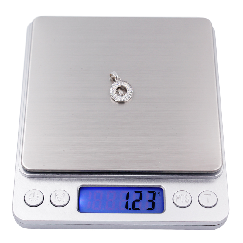 5pcs 500g x 0.01g Digital Kitchen Jewelry Scale Mini Electronic Pocket Case Postal Balance Weight Scale 0.01g With 2 Tray