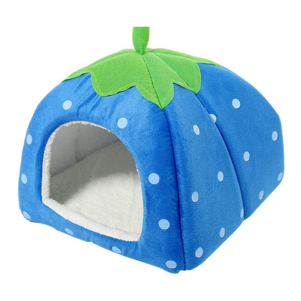 Spring And Autumn Explosion Kennel Strawberry Pet House Lamb Cashmere Kennel Cat Worm Hamster Dropshipping