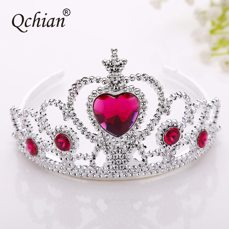 Elsa Crown for Girls Anna Newborn Princess Bridal Crown Crystal  Tiara Hoop Headband Hair Band Accessories for Kids