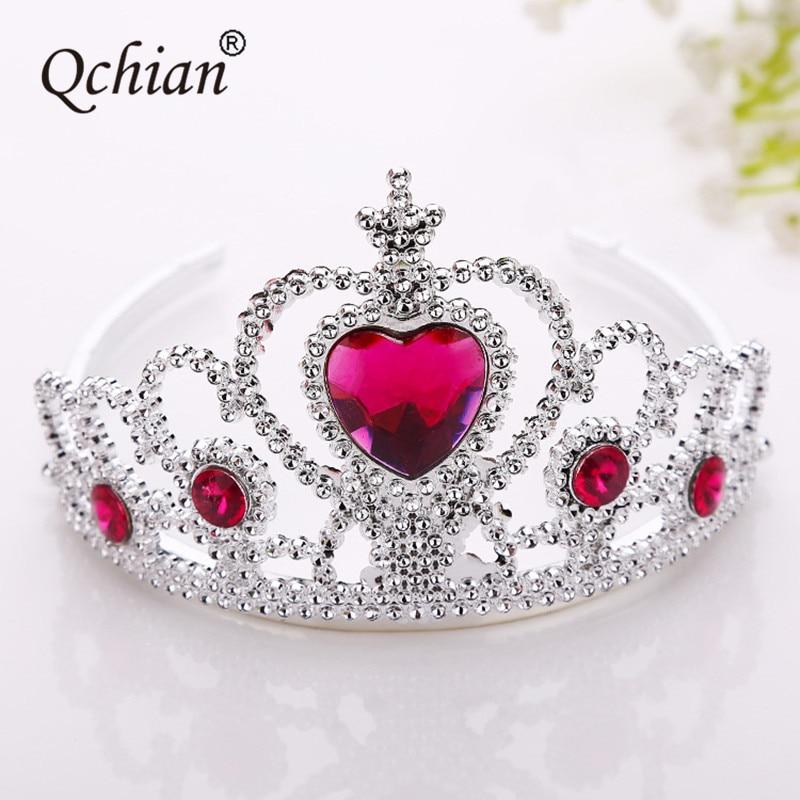 Elsa Crown for Girls Anna Newborn Princess Bridal Crown Crystal Tiara Hoop Headband Hair Band Accessories for Kids