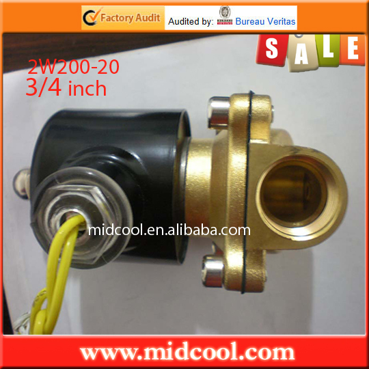 3/4'' 12 volt 2W Series UD Water Solenoid Valve Brass 2 Way Valve Oil Gas Valves Model 2W-200-20 [zob] 100% brand new original authentic omron omron proximity switch e2e x1r5e2 z 2m