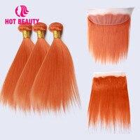 Красивые волосы прямые бразильские волосы плетение пучки Remy человеческие волосы пучки с фронтальной красочной наращивание волос 3 пучка