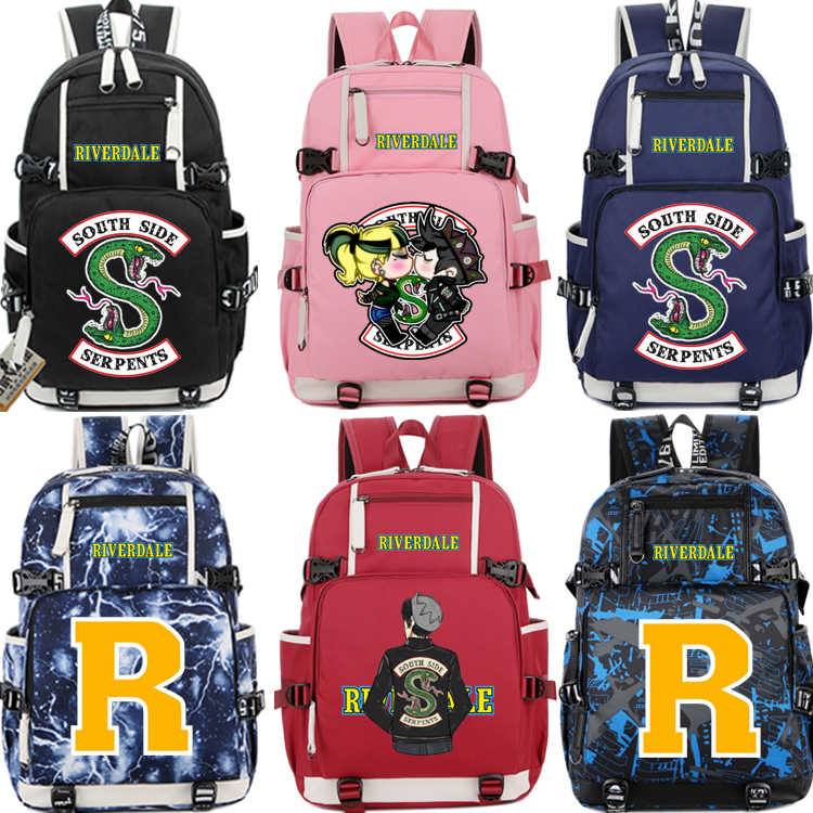 d7d18ab641 NEW Riverdale South Side Serpents Backpack men women Shoulder travel School Backpacks  teenagers baby Girl Casual