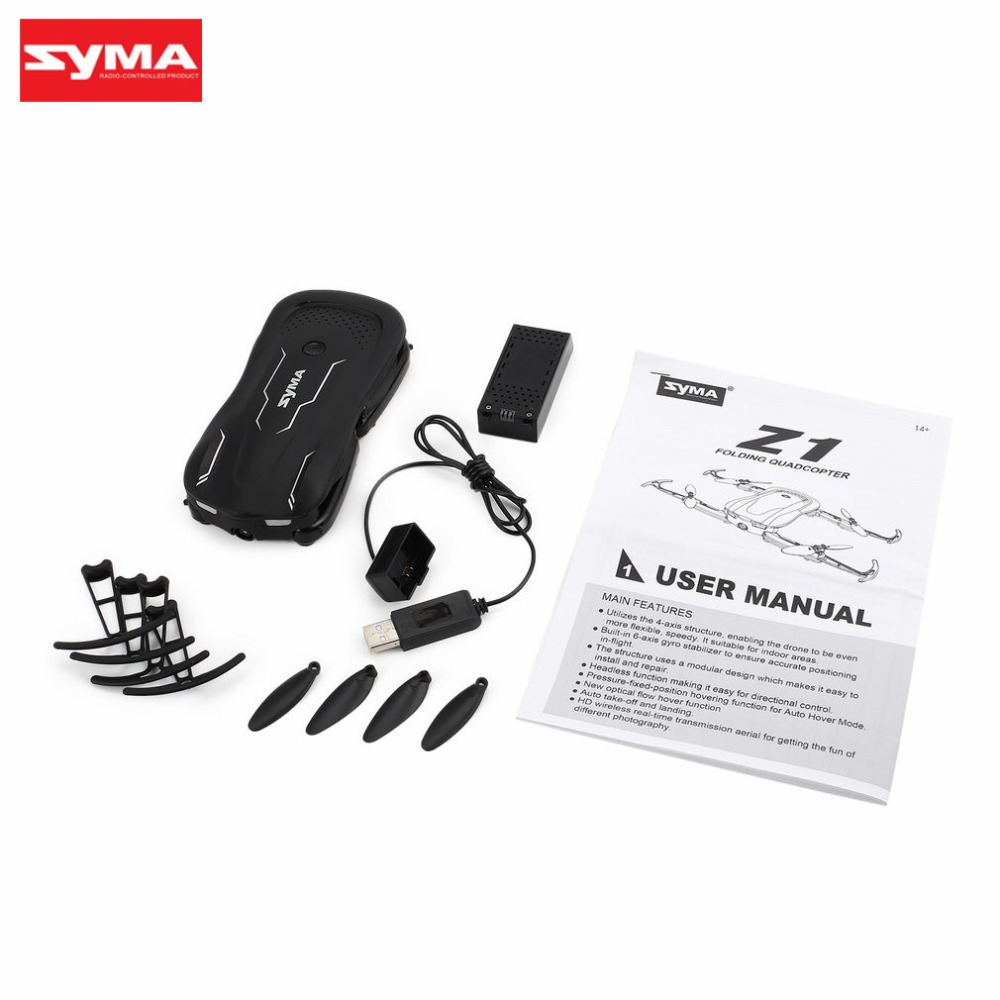 Syma Z1 2.4G FPV Foldable Drone Smart RC Quadcopter with 720P HD Wifi Camera Real time Altitude Hold Optical Flow Positioning hi