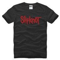 2017 New Short Heavy Metal Slipknot Letter Printed Mens Men T Shirt Tshirt Fashion Sleeve Cotton