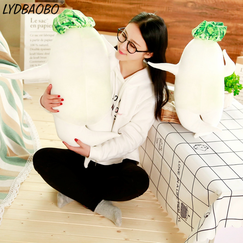 <font><b>45cm</b></font> Creative Simulation Funny White Radish Plush Toy Stuffed Kawaii Plant Cushion <font><b>Sex</b></font> Plush Pillow <font><b>Doll</b></font> Creatiave Sofa&Bed Deco image