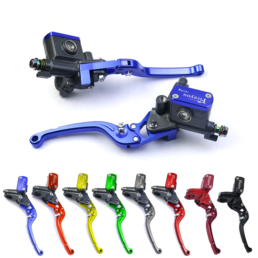 Motorcycle brake clutch pump lever master cylinder universal set kit 7/8