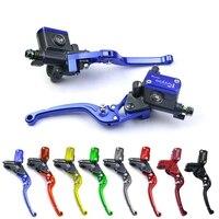 Motorcycle brake clutch pump lever master cylinder universal set kit 7/8 22mm for yamaha honda suzuki kawasaki hydraulic lever
