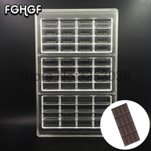 Christmas Polycarbonate Chocolate Bar Mold Tray for Candy Chocolate Mould Baking Pastry Tool Bakeware Gadget Form