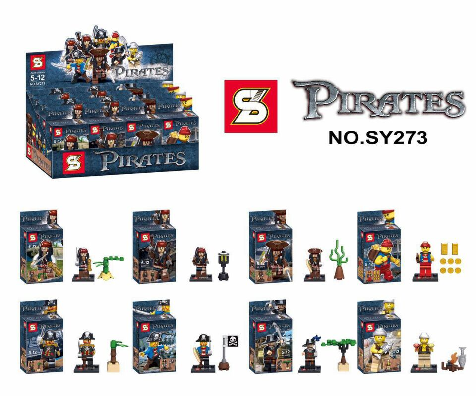 SY273 Building Block Super Heroes Avengers Pirates Of The Caribbean Captain Jack Pirates Flags Bricks Classic  Toys hot classic movie pirates of the caribbean imperial warships building block model mini army figures lepins bricks 10210 toys