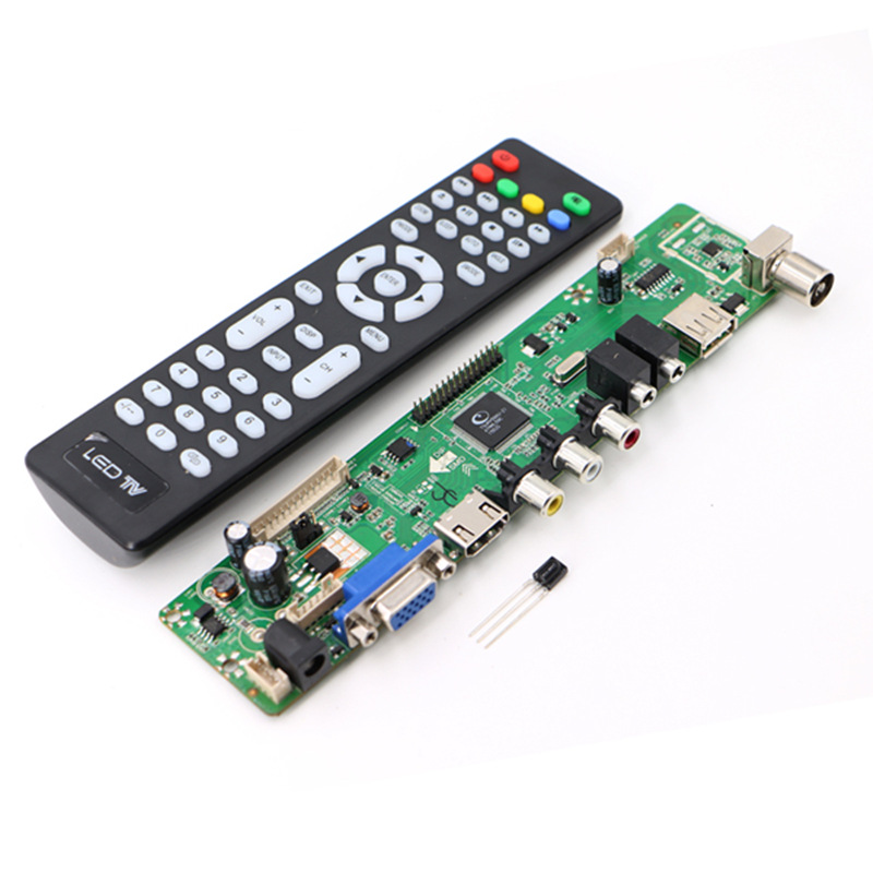 High Quality V56 Upgrade V59 Universal LCD TV Controller Driver Board PC/VGA/USB Interface купить в Москве 2019