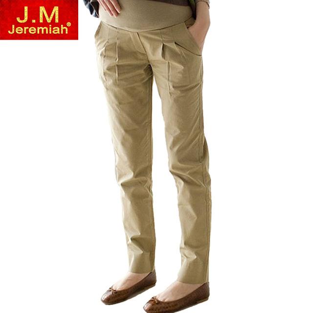 100% Algodón de Maternidad Del Vientre Pantalones Pantalones Causales para Embarazo Wear Lápiz Pantalones Largos X8007