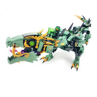 Movie Series Flying Mecha Dragon 592pcs Set Building Blocks DIY Educational Bricks Toys For Children Compatible