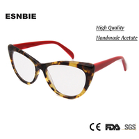 New Women S Fashion Eyeglasses Frames Decorative Butterfly Eyewear Handmade Acetate Spectacle Frame Vision Glass Plain