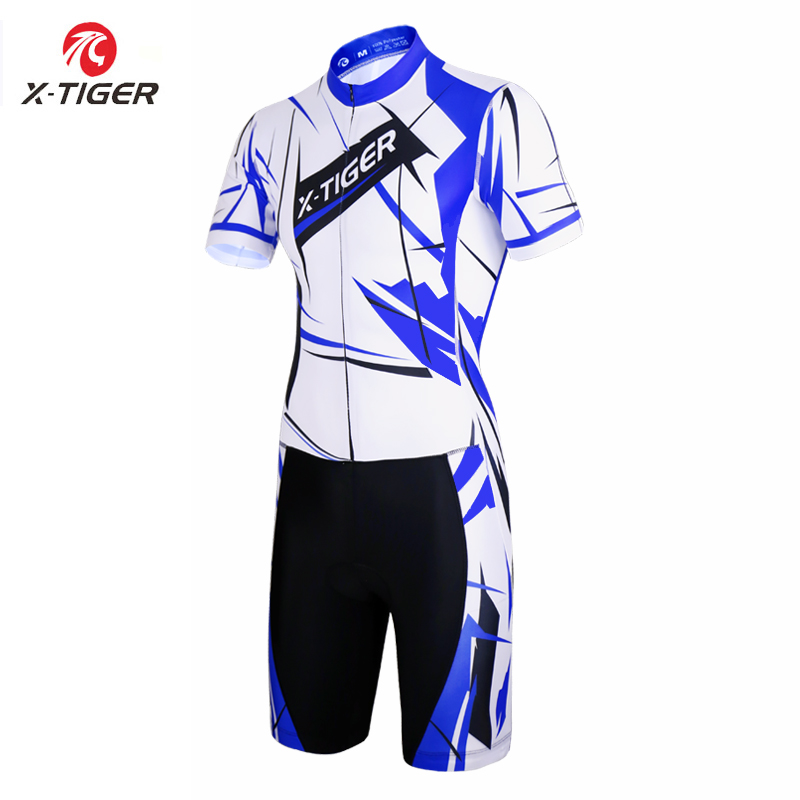 X Tiger Summer Short Sleeve Cycling Jersey Triathlon Cycling Running Swimming Jerseys Ropa De Ciclismo Compression