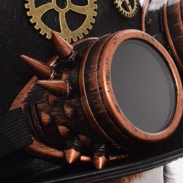 Шляпа в стиле стимпанк с очками вариант 6 5