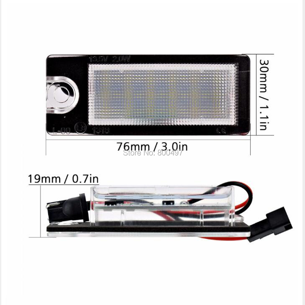 2 x LED High Power Car-styling Car LED License Plate Lights Lamps White CANBUS OBC Error Free for Volvo V70 XC70 S60 S80 XC90 led waterproof number white license plate light lamps obc error free 18 led for bmw x3 e83 x5 e53