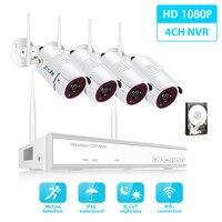 Комплект беспроводной системы видеонаблюдения Zoohi 1080 P 2MP HD wifi камера домашняя камера безопасности система ночного видения комплект видеона...