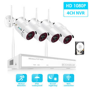 Zoohi Wireless Survellance System Kit 1080P 2.0MP HD WIFI Camera Home Security Camera System Night Vision Video Surveillance Kit
