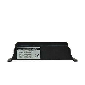 PWM Panel Solar regulador 20a 12 V-24 V controlador de carga Auto Dual USB pantalla Digital para baterías de plomo ácido LCD colector
