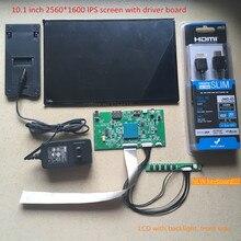 10.1 pulgadas 2560X1600 2 k 1440 p HD monitor de pantalla IPS VVX10T025J00 proyector DLP LCD y tablero de conductor con keyboad impresora 3d diy