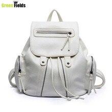 2015 dames En Cuir sac à dos femmes de bonne qualité sac à dos de mode pu femmes noir argent blanc sac à dos XA754B